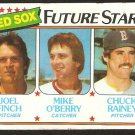 Boston Red Sox Future Stars Finch O'Berry Rainey 1980 topps baseball card # 662 vg/ex