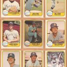 1981 Fleer Seattle Mariners Team Lot 22 Maury Wills Bruce Bochte Tom Paciorek Julio Cruz