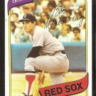 BOSTON RED SOX BOB MONTGOMERY 1980 TOPPS BASEBALL CARD # 618 em