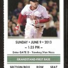LOS ANGELES ANGELS BOSTON RED SOX 2013 TICKET SALTALAMACCHIA 2 DAVID ORTIZ CARP HR