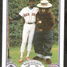 Boston Red Sox Dennis Oil Can Boyd 1987 Smokey The Bear Fire Prevention Baseball Card # 2