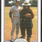 BALTIMORE ORIOLES LARRY SHEETS 1987 SMOKEY THE BEAR FIRE PREVENTION CARD # 10