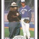 Toronto Blue Jays Tom Henke 1987 Smokey The Bear Fire Prevention Baseball Card # 14