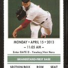Tampa Bay Rays Boston red Sox 2013 Ticket Saltalamacchia Evan Longoria HR
