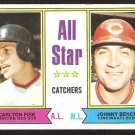 A.S. Catchers Boston Red Sox Carlton Fisk Cincinnati Reds Johnny Bench 1974 Topps Baseball Card 331