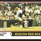 Boston Red Sox Carlton Fisk 1974 Topps Baseball Card # 105 ex