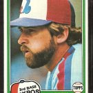 Montreal Expos Larry Parrish 1981 Topps Baseball Card # 15 nr mt