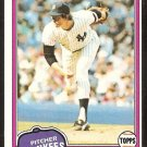 NEW YORK YANKEES RON DAVIS 1981 TOPPS BASEBALL CARD # 16 NR MT