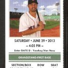TORONTO BLUE JAYS BOSTON RED SOX 2013 TICKET BAUTISTA 2 HR ADAM LIND 3 HITS