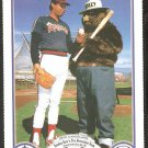 California Angels John Candelaria 1987 Smokey the Bear Fire Prevention Baseball Card # 3 nr mt