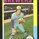 Milwaukee Brewers Tom Murphy 1975 Topps Baseball Card # 28 em/nm oc