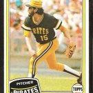 Pittsburgh Pirates Enrique Romo 1981 Topps Baseball Card # 28 nr mt