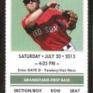 NEW YORK YANKEES BOSTON RED SOX 2013 TICKET MARIANO RIVERA DAVID ORTIZ OVERBAY
