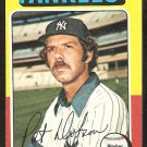 New York Yankees Pat Dobson 1975 Topps Baseball Card # 44 vg