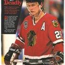 Chicago Blackhawks Steve Larmer 1991 Pinup Photo