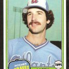 Atlanta Braves Larry McWilliams 1981 Topps Baseball Card # 44 nr mt
