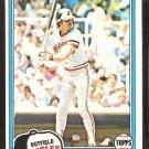 Baltimore Orioles Gary Roenicke 1981 Topps Baseball Card # 37 nr mt