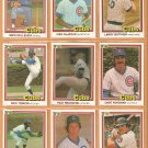1981 DONRUSS CHICAGO CUBS TEAM LOT 19 DIFF REUSCHEL KINGMAN BIITTNER MACKO +