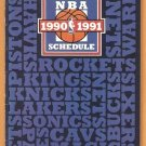 1990 NBA Schedule Brochure Michael Jordan Chicago Bulls Magic Johnson
