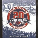 CHARLESTON SOUTH CAROLINA STINGRAYS 2012-13 POCKET SCHEDULE 20TH SEASON