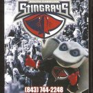 CHARLESTON SOUTH CAROLINA STINGRAYS 2013-14 POCKET SCHEDULE