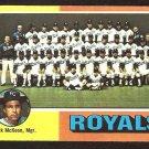Kansas City Royals Team Card 1975 Topps Baseball Card # 72 vg unmarked