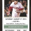 New York Yankees Boston Red Sox 2013 Ticket David Ortiz HR Jacoby Ellsbury 3 Hits