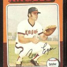 California Angels Tom Egan 1975 Topps Baseball Card # 88 vg/ex