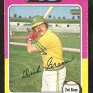 Oakland A's Athletics Dick Green 1975 Topps Baseball Card # 91 good
