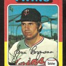 Minnesota Twins Glenn Borgmann 1975 Topps Baseball Card # 127 ex