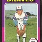 Atlanta Braves Phil Niekro 1975 Topps Baseball Card # 130 vg/ex