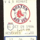 NEW YORK YANKEES BOSTON RED SOX 1986 FENWAY PARK TICKET STUB DON MATTINGLY HR JIM RICE