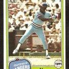 Texas Rangers Al Oliver 1981 Topps Baseball Card # 70 Nr Mt
