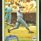 Atlanta Braves Brian Asselstine 1981 Topps Baseball Card # 64 Nr Mt