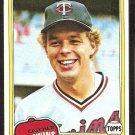 Minnesota Twins Butch Wynegar 1981 Topps Baseball Card # 61 Nr Mt