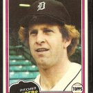 Detroit Tigers Dan Petry 1981 Topps Baseball Card # 59 Nr Mt