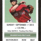 Chicago White Sox Boston Red Sox 2013 Ticket Steven Drew Tyler Flowers HR Alexei Ramirez Konerko