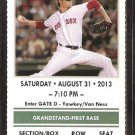 Chicago White Sox Boston Red Sox 2013 Ticket Jake Peavy Jacoby Ellsbury