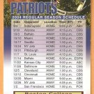 New England Patriots Boston College Monday Night Football Magnetic Schedule
