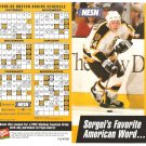 Boston Bruins 1998-99 Schedule Pamphlet Sergei Samsonov
