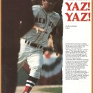 1977 Boston Red Sox Carl Yastrzemski 4-page Folio Ted Williams Tony Conigliaro