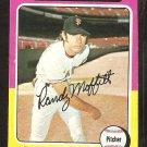 1975 Topps # 132 San Francisco Giants Randy Moffitt