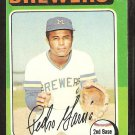 1975 Topps # 147 Milwaukee Brewers Pedro Garcia