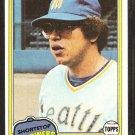 1981 Topps # 76 Seattle Mariners Mario Mendoza nr mt