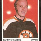 BOSTON BRUINS GERRY CHEEVERS 1970 TOPPS # 1 EX MT