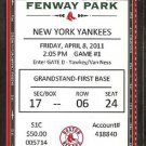 NEW YORK YANKEES BOSTON RED SOX 2011 OPENING DAY TICKET TED WILLIAMS PHOTO AROD HR DEREK JETER