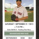 Toronto Blue Jays Boston Red Sox 2013 Ticket Mark Buehrle Adam Lind