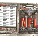 2003 NFL Pocket Schedule Coors Light