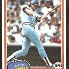 1981 Topps # 98 Kansas City Royals Clint Hurdle