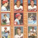 1982-83 Minnesota Twins 16 Diff Topps Stickers Smalley Brunansky Wynegar +